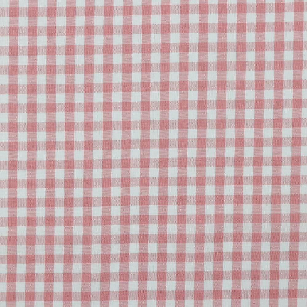 Cotton Fabric Gingham Baby Pink