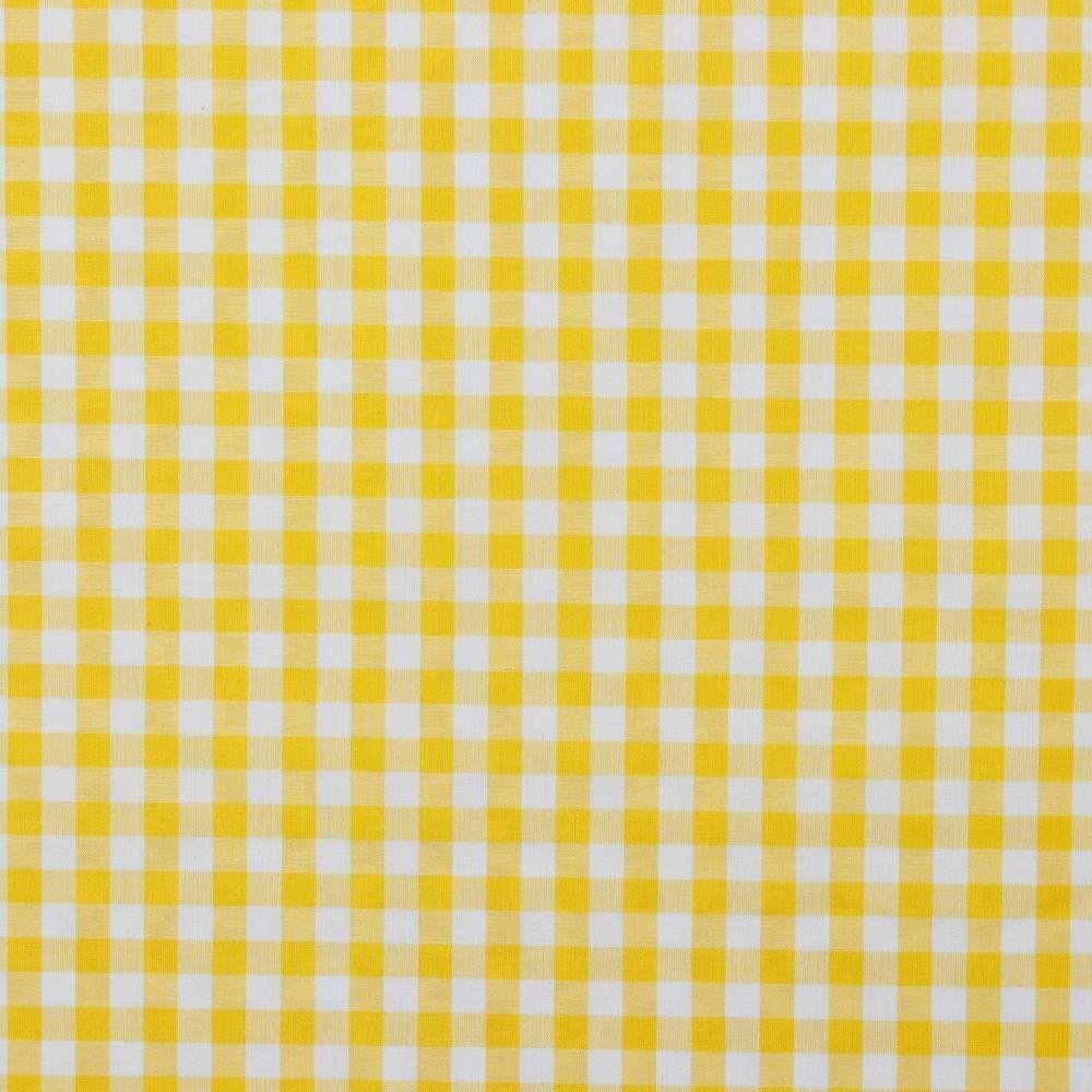 Cotton Fabric Gingham Yellow