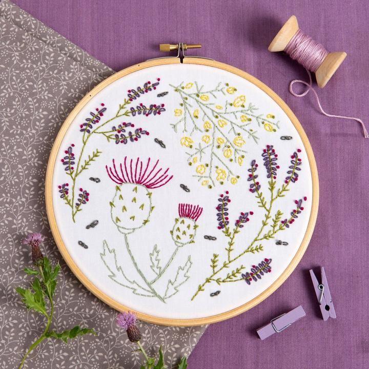 Highland Heathers Embroidery Kit Hawthorn Handmade