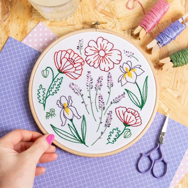 Fields Of Provence Embroidery Kit Hawthorn Handmade