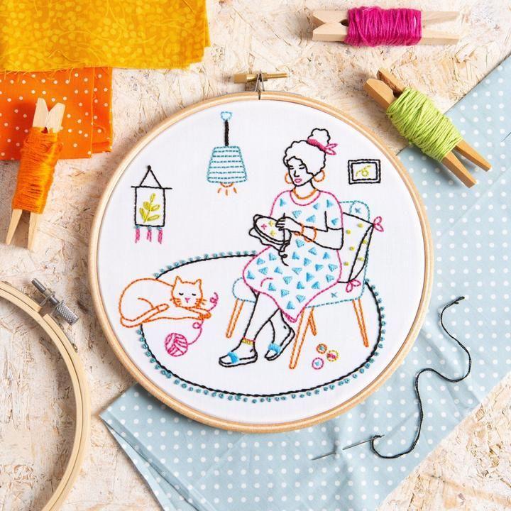 Wonderful Women Relax Embroidery Kit Hawthorn Handmade