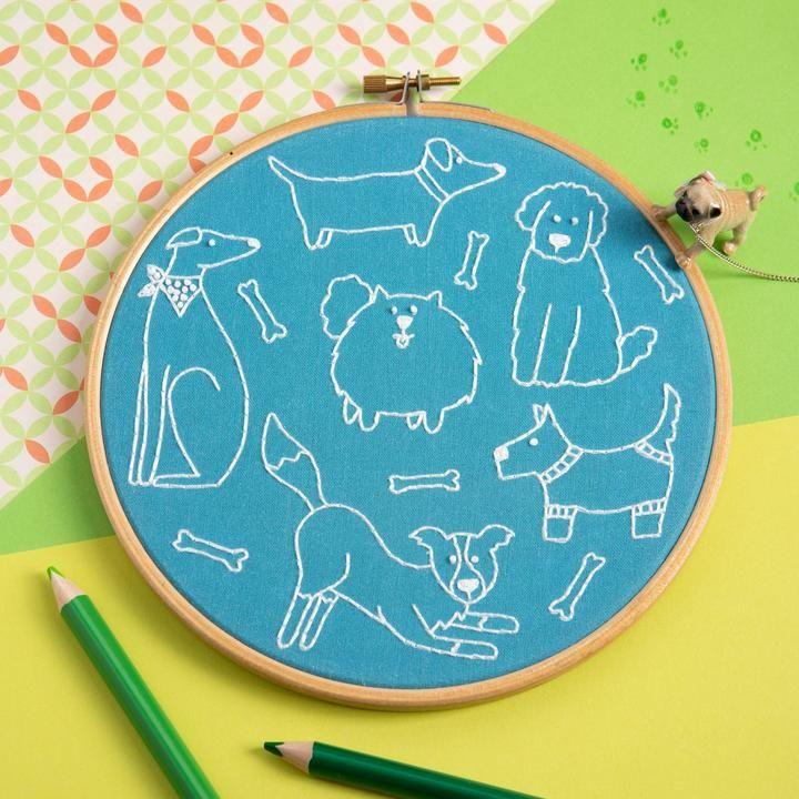 Dandy Dog Embroidery Kit Hawthorn Handmade
