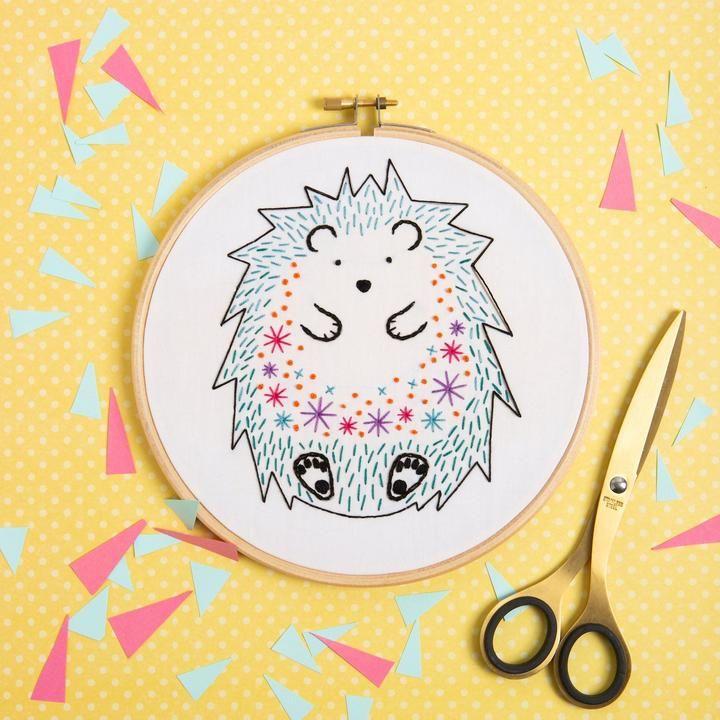 Hedgehog Embroidery Kit Hawthorn Handmade