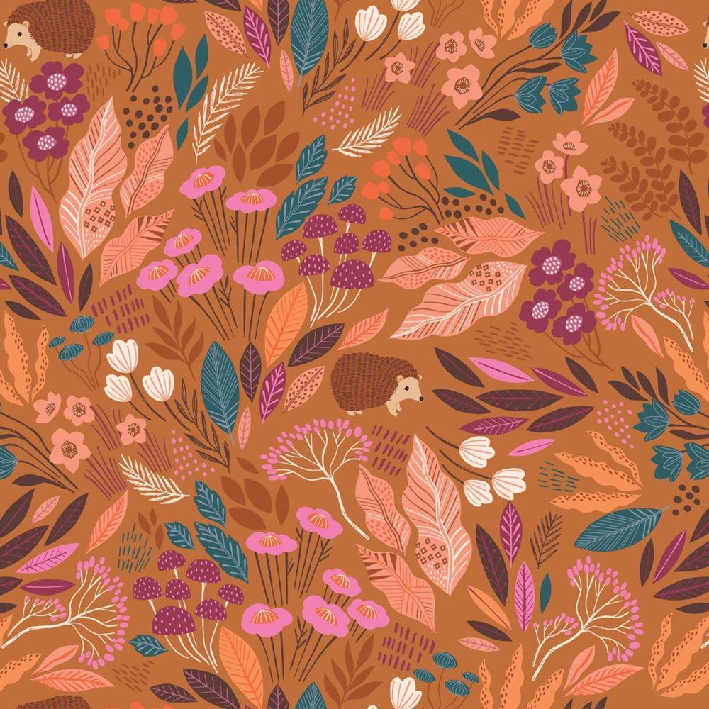 Dashwood Studio Cotton Fabric Wild Hedgehog Leaves