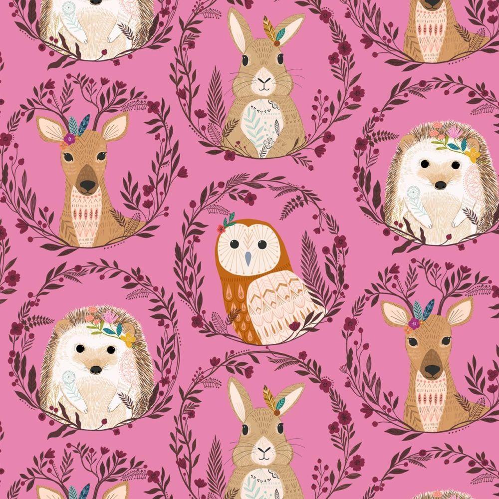 Dashwood Studio Cotton Fabric Wild Forest Animals