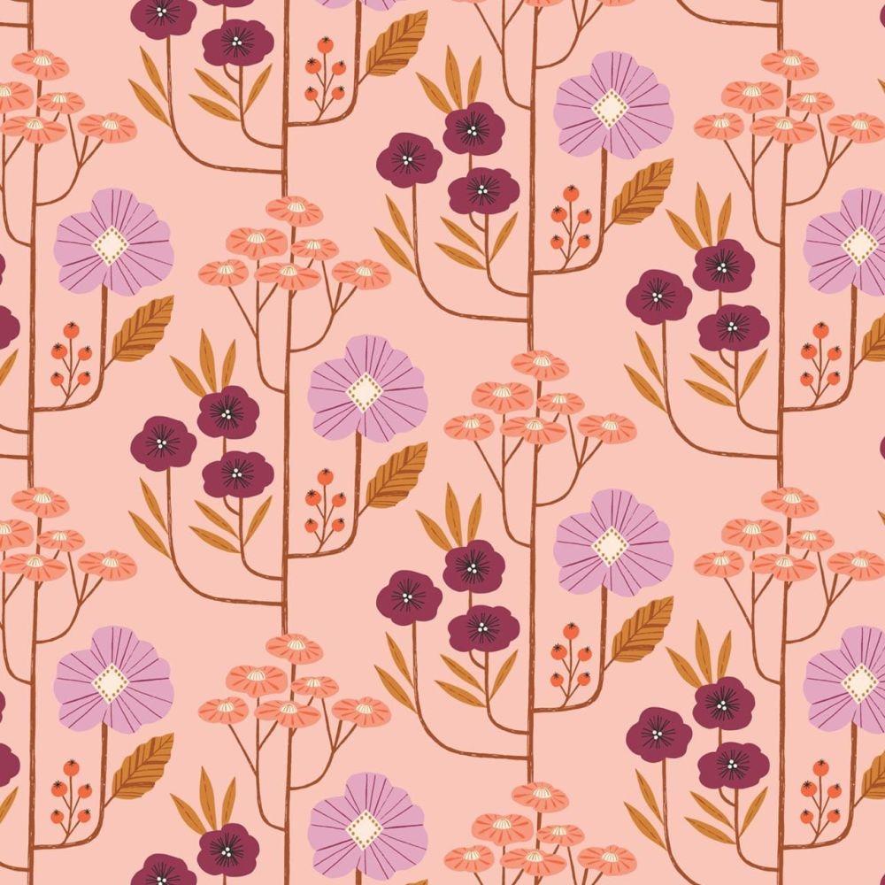 Dashwood Studio Cotton Fabric Wild Flowers