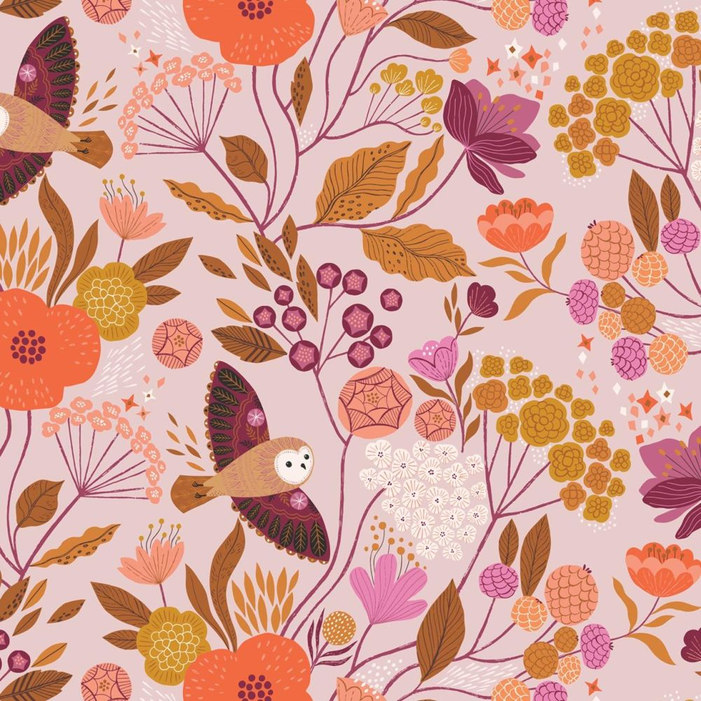 Dashwood Studio Cotton Fabric Wild Owls & Leaves