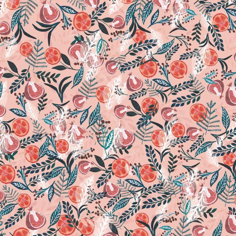 Dashwood Studio Cotton Fabric Spice Fruits Pink