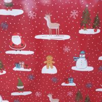 Oilcloth Christmas Cool Yule Red