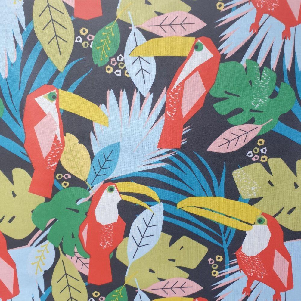 OilCloth Fabric Tropic Toucans