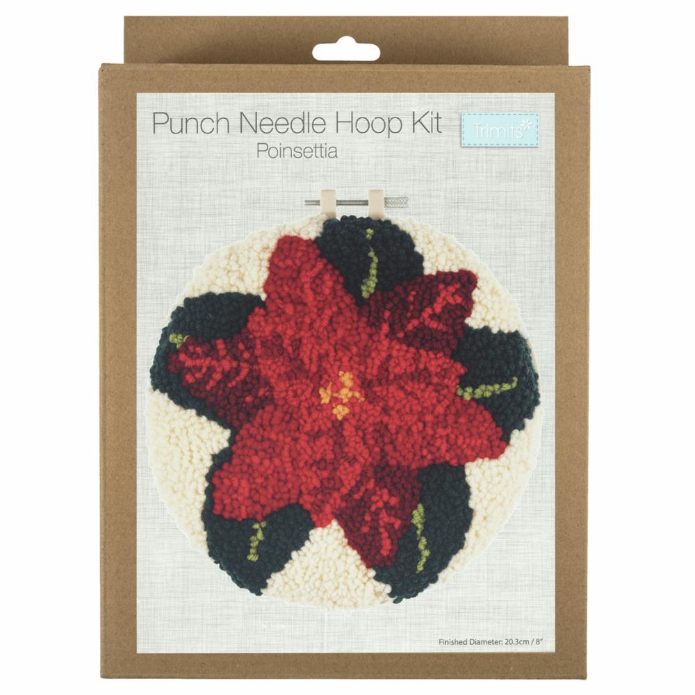 Punch Needle Kit Poinsettia