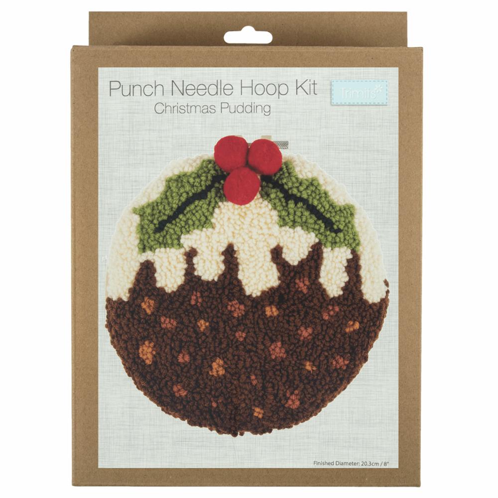 Punch Needle Kit Christmas Pudding