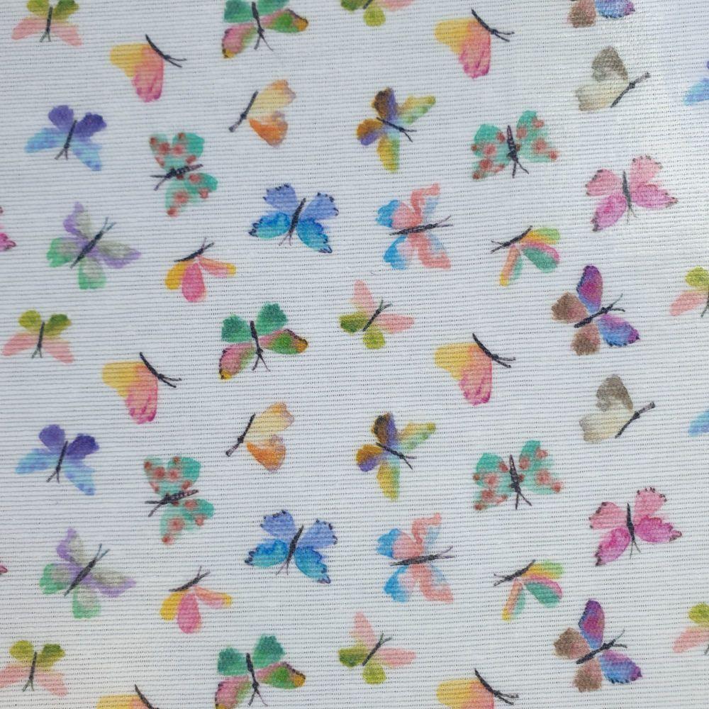 Oilcloth Fabric Butterflies