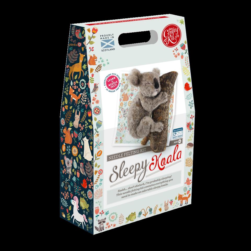 Crafty Kit Sleeping Koala Needle Felting Kit