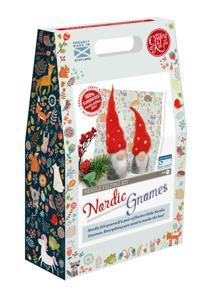 Crafty Kit Nordic Gnomes Needle Felting Kit