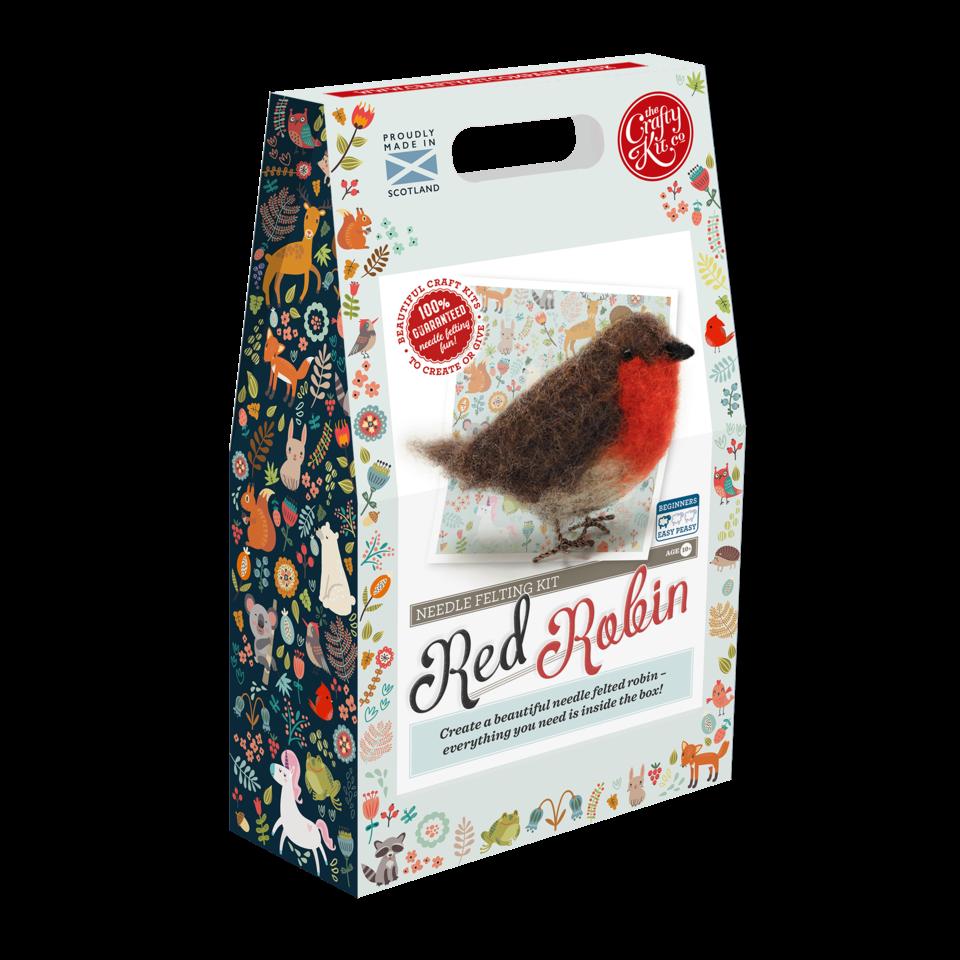Crafty Kit Red Robin Needle Felting Kit