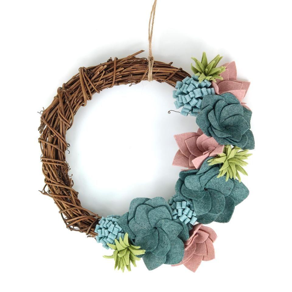 Crafty Kit Succulent Felt Wreath