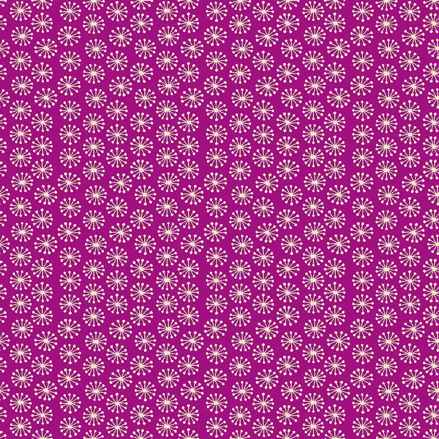 Henna By Makower Cotton Fabric Pop Pink