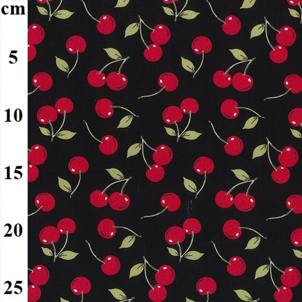 Cotton Poplin Fabric Cherries