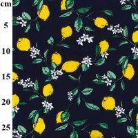 Cotton Poplin Fabric Lemons