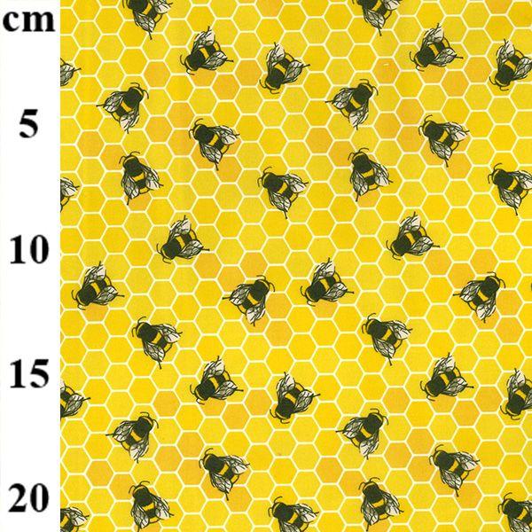 Cotton Poplin Fabric Honey Bees