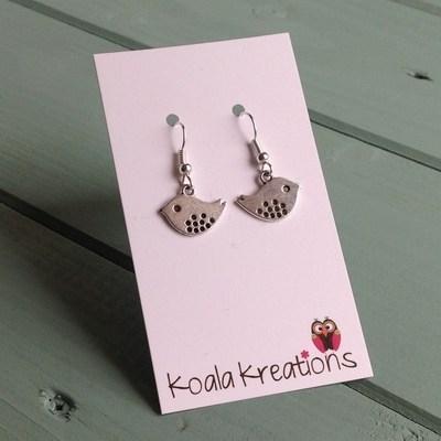 Tweet... mini bird earrings