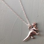Dinky dinosaur necklace