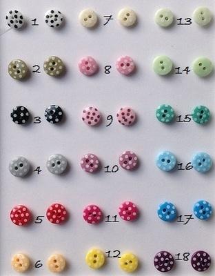 Polka dot button stud earrings