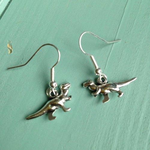 Dinky Dinosaur earrings