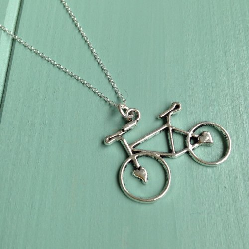 Vintage bicycle necklace