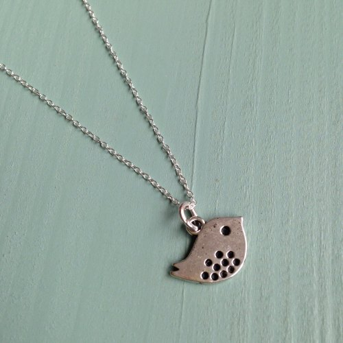 Tweet... mini bird necklace