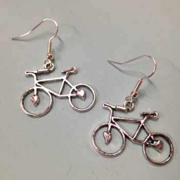 Vintage bicycle earrings
