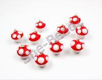 Fimo Mushroom Cupcake Charms Mini Pk 10
