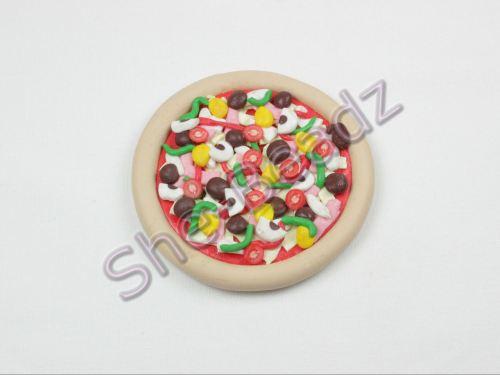 Fimo Giant Pizza Pendant Pk 1