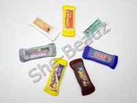 Fimo Chocolate Bar Charm Pendants Pk2 YOU CHOOSE