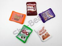 Fimo Various Chocolate Packet Charm Pendants Pk 2 YOU CHOOSE