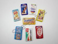 Fimo Various Cereal Packet Charm Pendants Pk 2 YOU CHOOSE