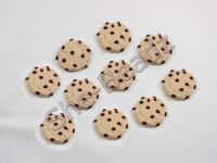 Fimo Chocolate Sprinkled Mini Cookie Charms. Pk 10