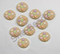 Fimo Mini Cookie with Star Sprinkles Charm. Pk 10