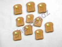 Fimo Large Toast with Butter Charms Pk 10