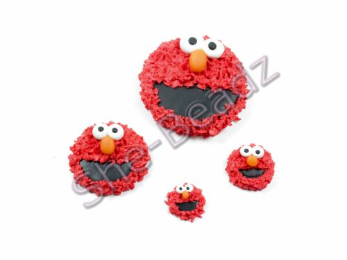 Fimo Elmo Charms Pk 6