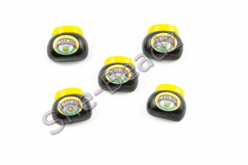 Fimo Marmite Jar Flat back Charms Tiny (3D) Pk 10