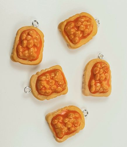 Fimo Beans On Toast Charms Mini Thick Pk 10