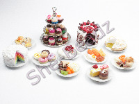 Miniature Ceramic Cups Plates & Cake Stands