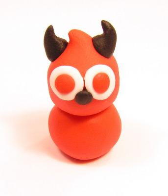 Fimo Devil Zingy Charms Mini Pk 10