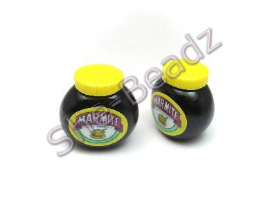 Fimo Marmite Jar Pendant (3D) Pk 2