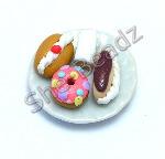 Cream Buns on a Plate Pk 1