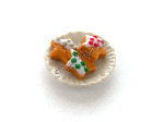Gingerbread Star Biscuits on a Plate Pk 1