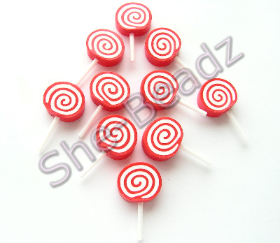 Fimo Rock Candy Pop Charms Pk 10