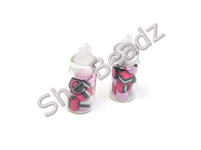 Miniature Pink Mix Liquorice Allsort in a Jar Pk 2 Jars